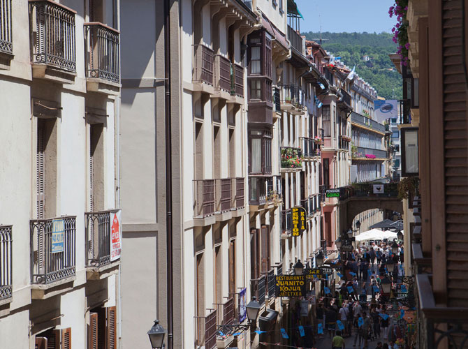 UR-alde chambres dans la vieille ville du Saint-Sébastien